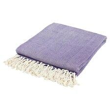 Organic Cotton Throw in Purple