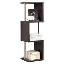 Downtown 3 Shelf Bookcase in Dark Brown