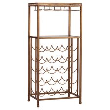 Reverse 20 Bottle Wine Rack in Brass