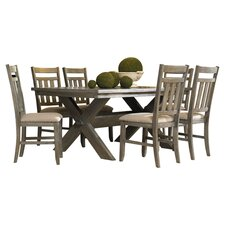 Turino 7 Piece Dining Set in Grey Oak