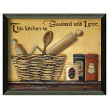 Seasoned with Love Framed Wall Art by Pam Britton