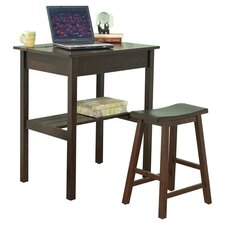 Lincoln Computer Desk & Stool in Espresso