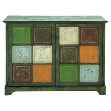 Huahine Woodcraft Storage Cabinet in Green