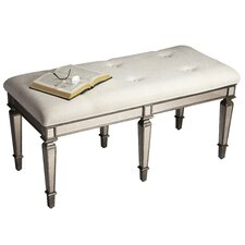 Masterpiece Mirrored Bench in Pewter