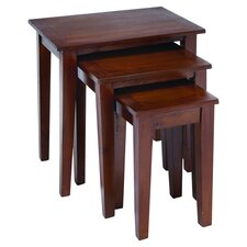 3 Piece Nesting Table Set in Chocolate