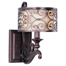 Parma 1 Light Wall Sconce in Bronze