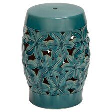Flora Garden Stool in Blue Green