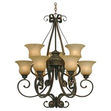 Costello 9 Light Chandelier in Bronze