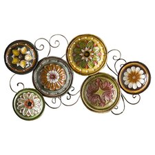 Scattered Italian Plates Wall Art