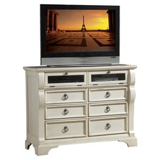 Heirloom 6 Drawer Media Chest in White