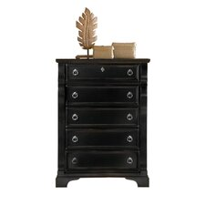 Heirloom 5 Drawer Chest in Black
