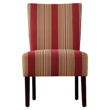 Dunley Fabric Slipper Chair in Crimson
