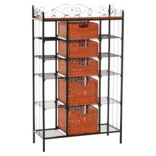 Walker Metal Baker's Rack in Black