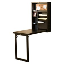 Fold Out Convertible Writing Desk in Espresso