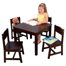 Cabot 5 Piece Table & Chair Set in Espresso