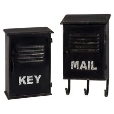 Alastor 2 Piece Key & Mailbox Set in Black