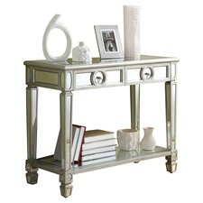 Apollo Mirrored Console Table in Antique Silver