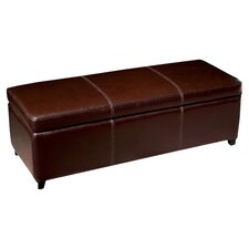Philostrate Storage Bench in Dark Brown