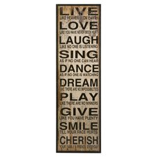 Live Love Laugh Wall Décor