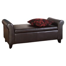 Easton Storage Bench in Dark Brown
