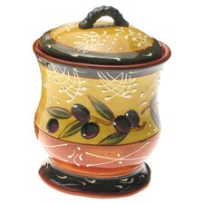 French Olives 3 Piece Canister Set in Yellow & Rust