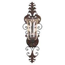 Toscana Glass Candle Wall Sconce in Bronze
