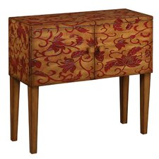 Dale Floral Sideboard in Brown & Red