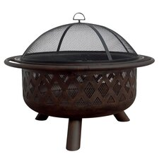 Outdoor Fire Pit in Bronze