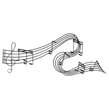Toscana Musical Notes Metal Wall Décor in Black