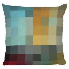 Madart Refreshing Throw Pillow in Blue & Marigold
