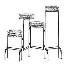 Quad Plant Stand in Black