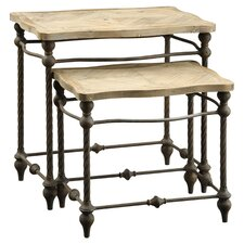 Rouss 2 Piece Nesting Table Set in Natural