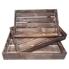 Mitchell 3 Piece Tray Set in Natural
