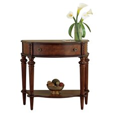 Caye Demilune Console Table in Cherry