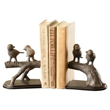 Birds on Branch Bookend Set