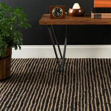 Leather & Jute 5' x 7' Flatweave Rug