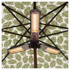 Parasol Electric Patio Heater in Silver