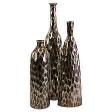 Clive 3 Piece Vase Set in Bronze
