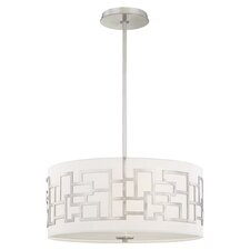 Alecia 3 Light Drum Pendant in Nickel