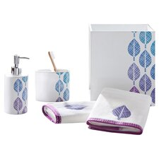 Central Park 5 Piece Bath Accessory Set in Blue & Purple