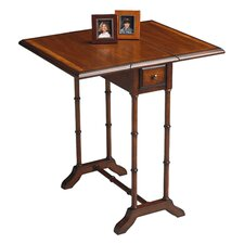 Drop-Leaf End Table in Amber
