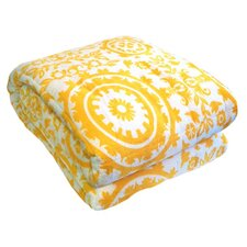 Bauhaus Quilted Throw in Yellow