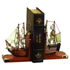 Nautical Coastal Bookend  in Brown