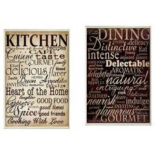 Kitchen & Dining Plaque Art
