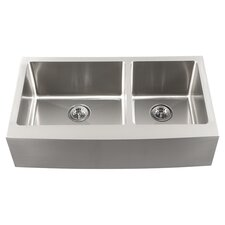 "Feldman 34"" Kitchen Sink Set in Satin Brush"