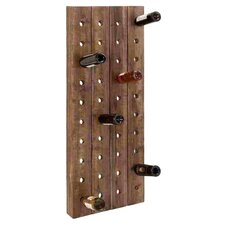 40 Bottle Wall Wine Rack in Brown
