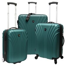 Belair 3 Piece Luggage Set in Green