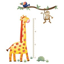 Jungle Peel & Stick Growth Chart in Orange