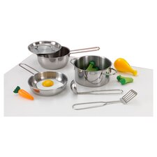 Deluxe 11 Piece Cookware Set in Silver