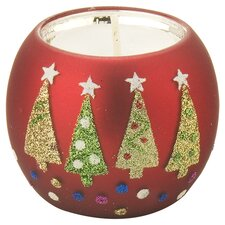 Christmas Tree Tealight Holder in Red